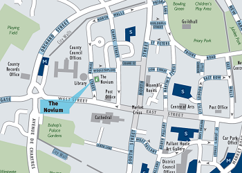 Location of the Novium Museum in Chichester